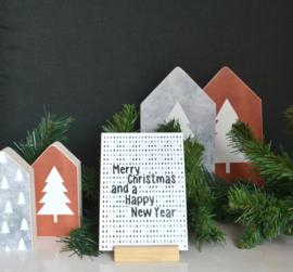 Merry christmas (dennenboom achtergrond)