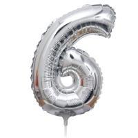 Folie Ballon cijfer 6