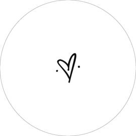 Wandcirkel - Hart (wit)