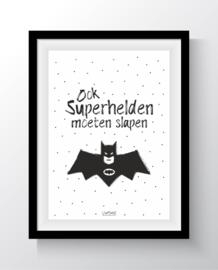 Ook superhelden moeten slapen