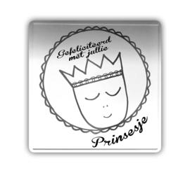 Kaart (blik) - Gefeliciteerd met jullie prinsesje