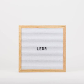 Letterbord wit - 30x30