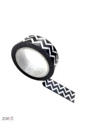 Masking tape zigzag zwart