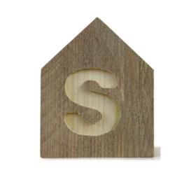 Letterhuisjes - Huisje S