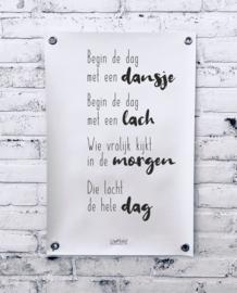 Tuinposter - Begin de dag met een dansje