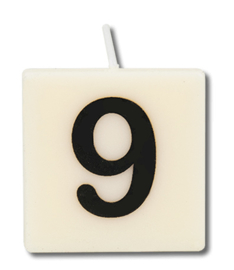 Letterkaars - 9 (cijfer)