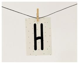 Naamslinger letter H