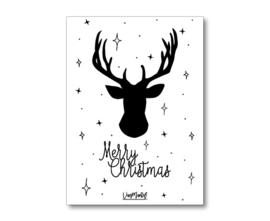 Kadokaart |  Rendier merry christmas