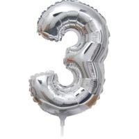 Folie Ballon cijfer 3