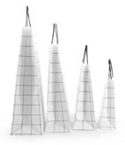 Draagtas papier grid wit (18 x 24 cm)