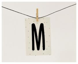 Naamslinger letter M