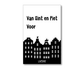 Kadokaart |  Van Sint en Piet voor (met huisjes)