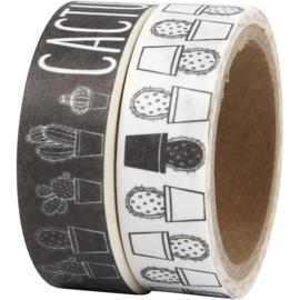 Masking tape cactus zwart