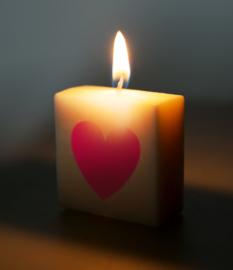 Letterkaars - (hartje rood)
