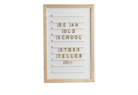 Oldschool letter board 30 x 45