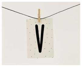 Naamslinger letter V