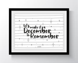 Lets make it a december to remember