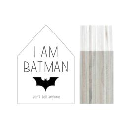 Huisje hout | I am batman maat S