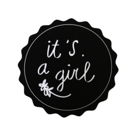 It's a girl! | 40 mm (zwart)