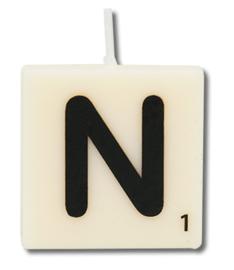 Letterkaars - N