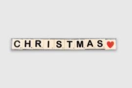 Letterkaarsjes in verpakking - Christmas