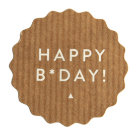 Happy B*day! | 50 mm (kraft)