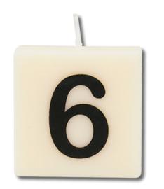 Letterkaars - 6 (cijfer)