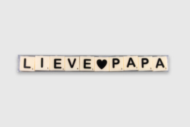Letterkaarsjes in verpakking - Lieve papa