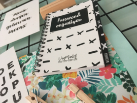 Password organizer met tabbladen