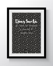 Dear santa - list of naughty boys