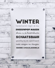 Tuinposter - Winter (A1)