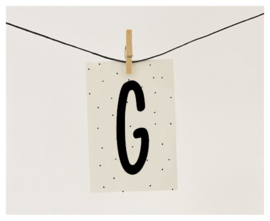 Naamslinger letter G