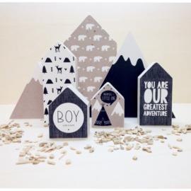 Huisje hout | Boy maat S