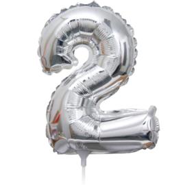 Folie Ballon cijfer 2