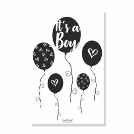 Kadokaart | Hoera Een boy ballon