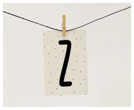 Naamslinger letter Z