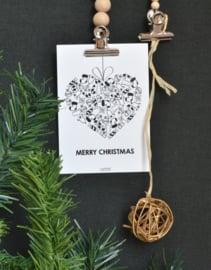 Kersthart merry christmas