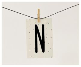 Naamslinger letter N
