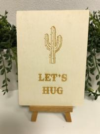 A6 | Houten kaart - Let's Hug