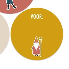 Sinterklaas voor: | 55mm Sinterklaas (geel)
