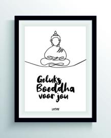 Geluks boeddha (one line)