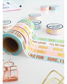 Masking tape roze XOXO