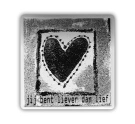 Kaart (blik) - Jij bent liever dan lief