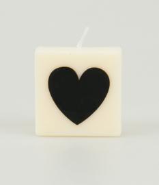 Letterkaars - (hartje zwart)