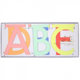"Word banner ""multi color"""