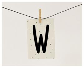 Naamslinger letter W