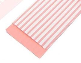Pink stripes 7 x 13 cm