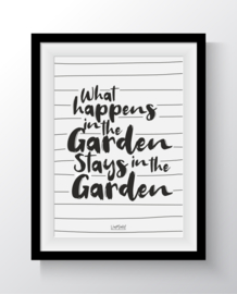 What happens in the garden stays in the garden