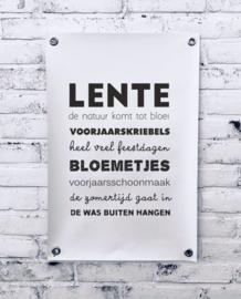 Tuinposter - Lente