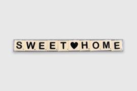 Letterkaarsjes in verpakking - Sweet Home